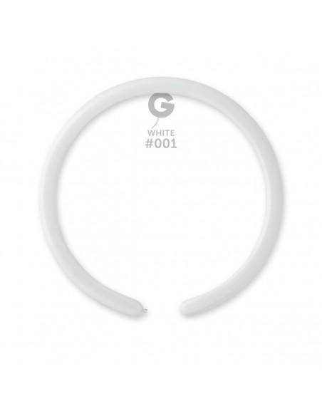 Gemar Standard 2.5x150cm - 1x60 inch - White No.001 - D2 - 100 pz