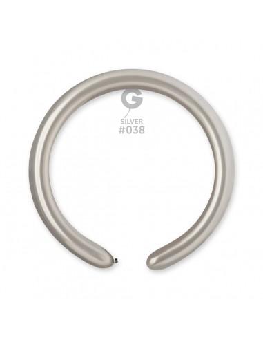 Gemar Metallic 5x150cm - 2x60 inch - Silver No.038 - DM4 - 100 pz