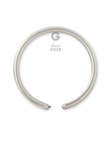 Gemar Metallic 2.5x150cm - 1x60 inch - Silver No.038 - DM2 - 100 pz
